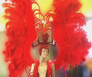 C050N Ostrich Victoria Secret Samba Angel Wings