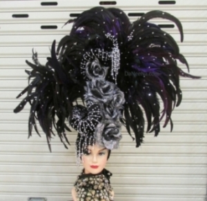 H194 Queen of The Night Crystal Showgirl Headdress